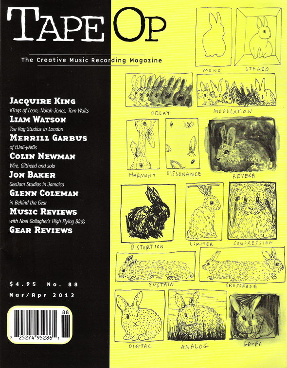 Tape Op Magazine – March 2012 – Featuring Curve Diffusors