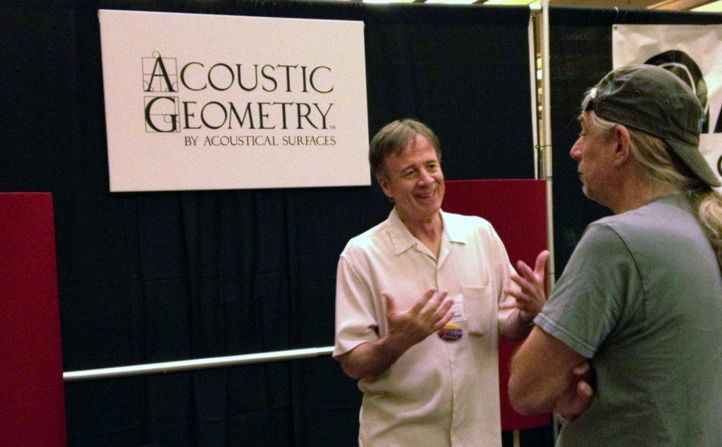 John Calder and Mark Genfan chatting at PotLuckCon 2013